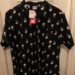 Marvel Shirts - Black 2XL Punisher Button Up Shirt